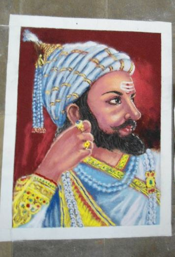Portrait Rangoli Designs for Competition