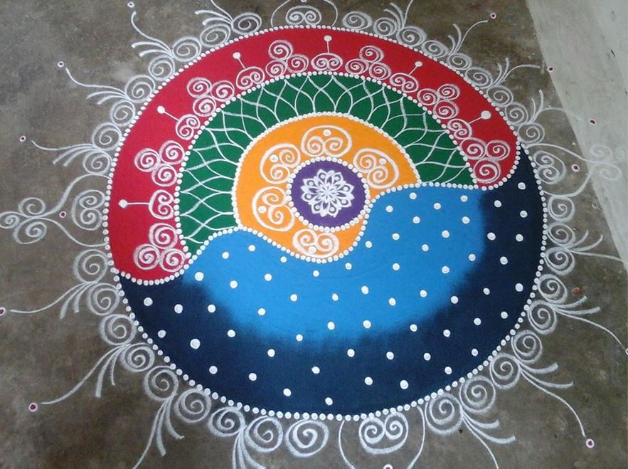 Competition Rangoli Designs Simple