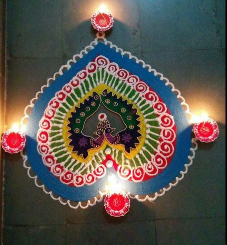Diwali Rangoli Designs Simple