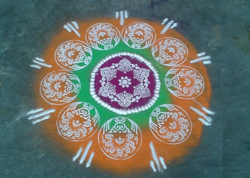 Stencil Rangoli Designs Simple