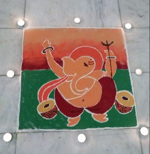 Ganesh Rangoli Designs for Diwali