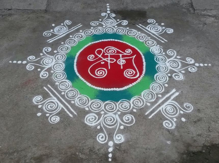 Easy Rangoli Designs for Ganesh Festival