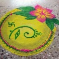 Simple Ganesh Rangoli Designs