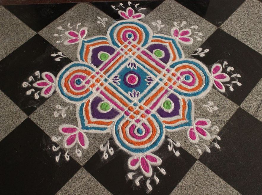 Kolam Rangoli Designs for Ugadi