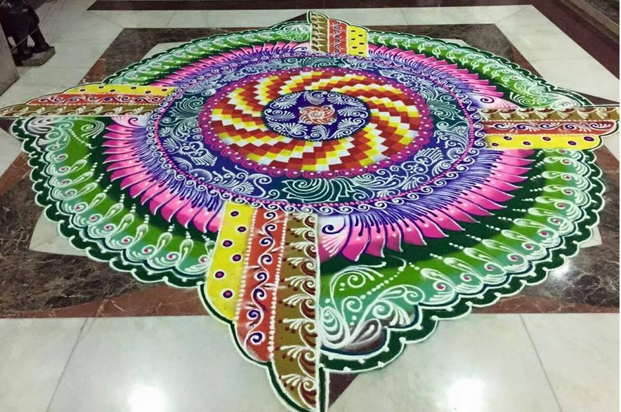 Rangoli Designs for Diwali Competition 2015