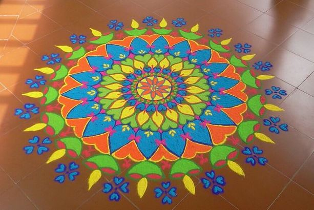 Free Hand Rangoli Designs for New Year
