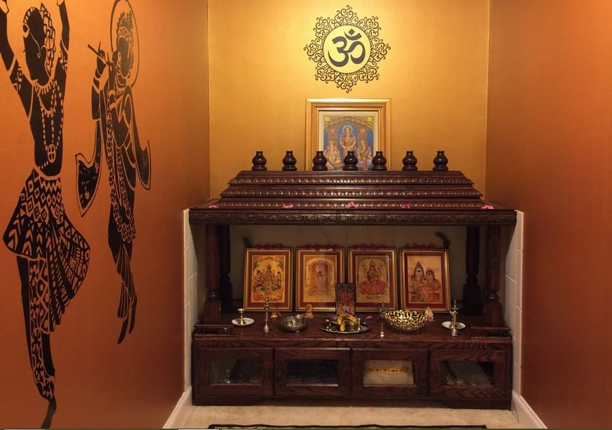 Pooja Room Designs In Hall Pooja Mandir For Home Pooja Shelf