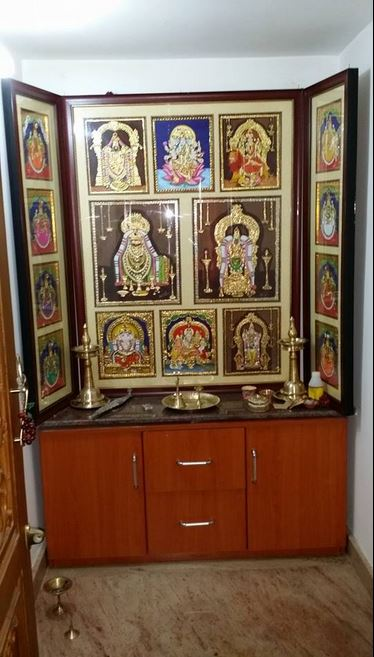 Pooja Room Door Designs Pooja Room: Pooja Room Designs In Hall - Pooja Room