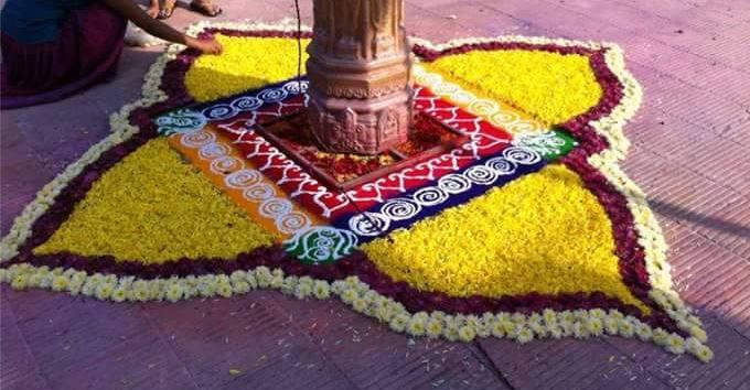 30 Amazing Rangoli Designs with Flowers