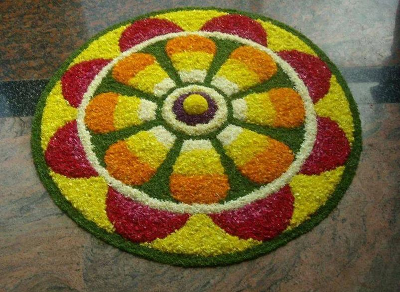 Rangoli Designs With Flowers Flower