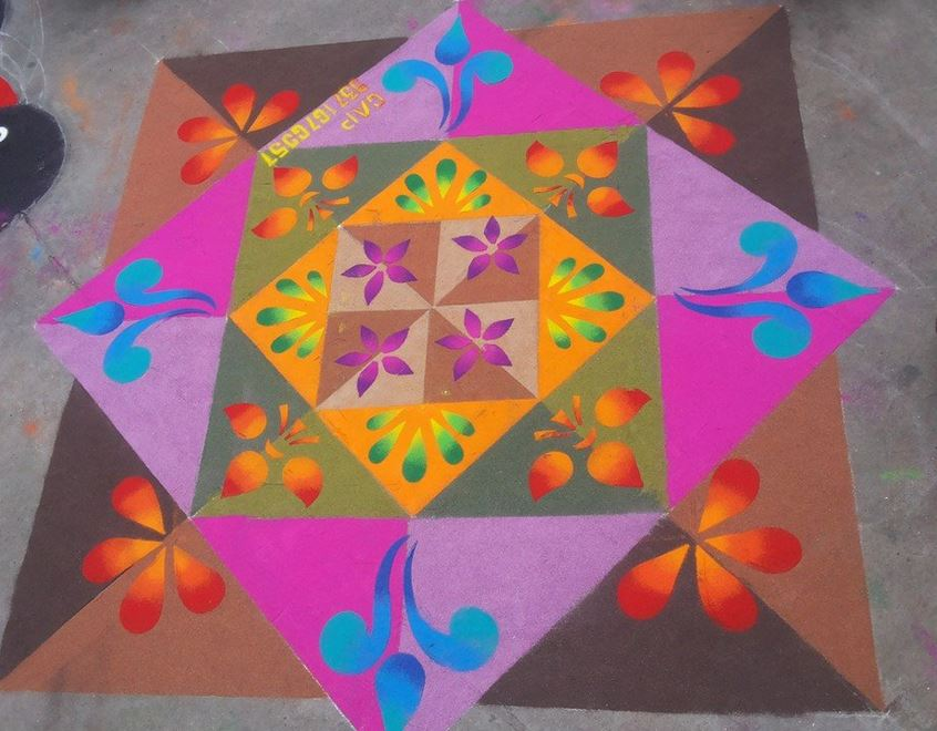 Rangoli Competition Winning Designs 2015