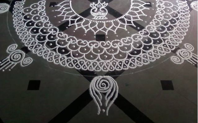 Simple Rangoli Design Kolam