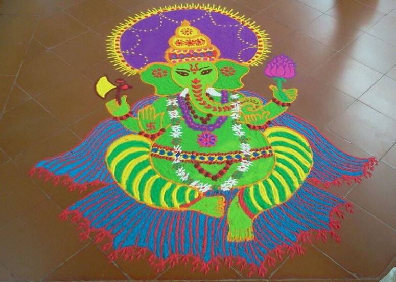 Rangoli Designs of God