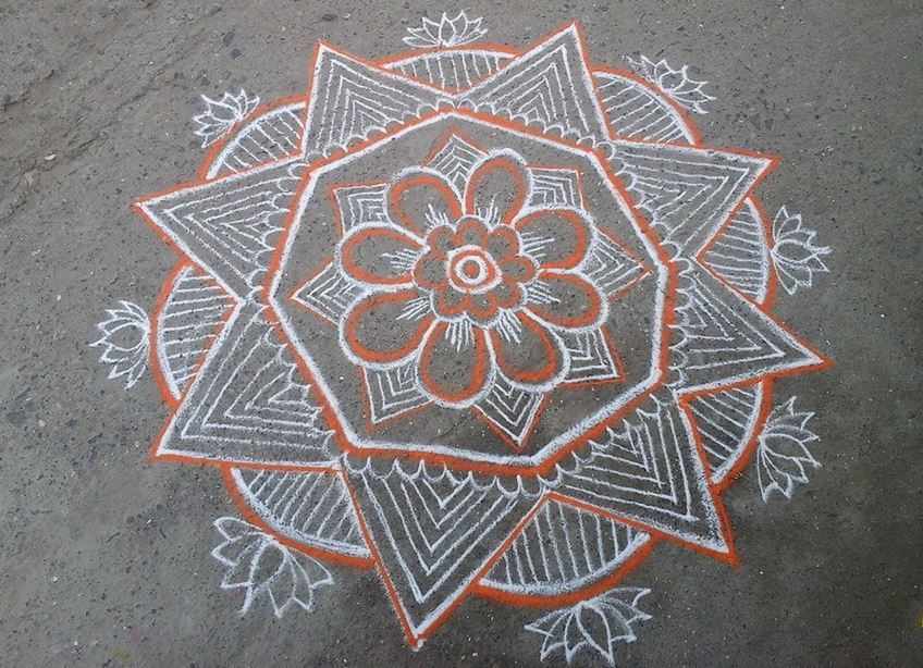 Simple Kolam Designs