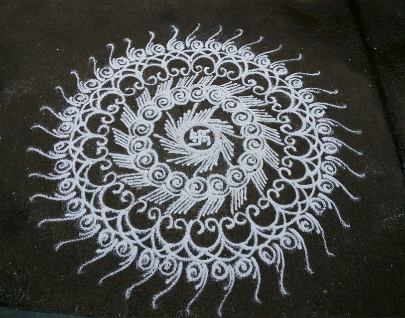 25 Simple Kolam Designs for Diwali