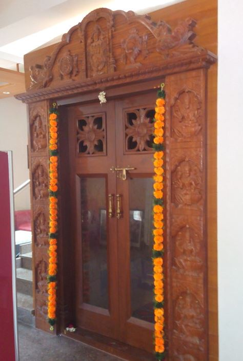 Pooja room door designs pooja room pooja room designs - Pooja room door designs in kerala ...