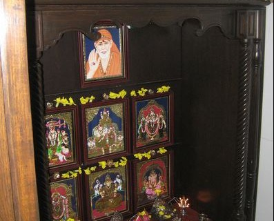 Pooja Room Designs in Wood