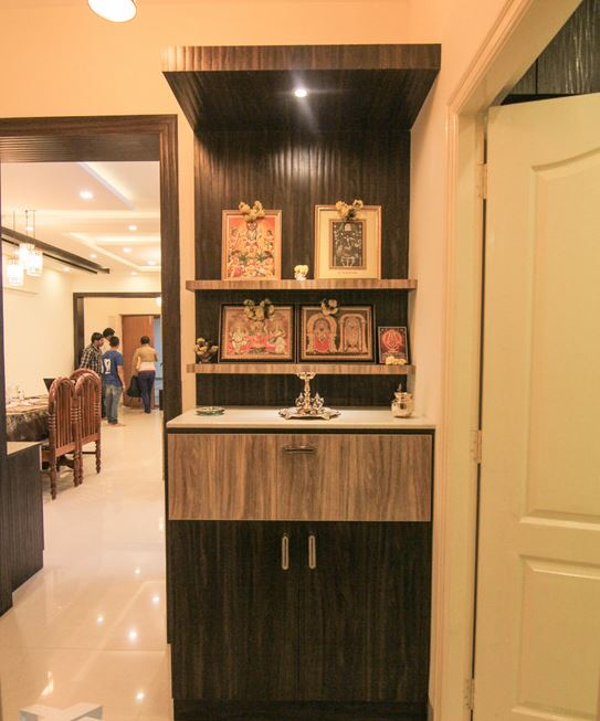 Living Room Cabinet Design In India: Pooja Room Designs In Wood - Pooja Room