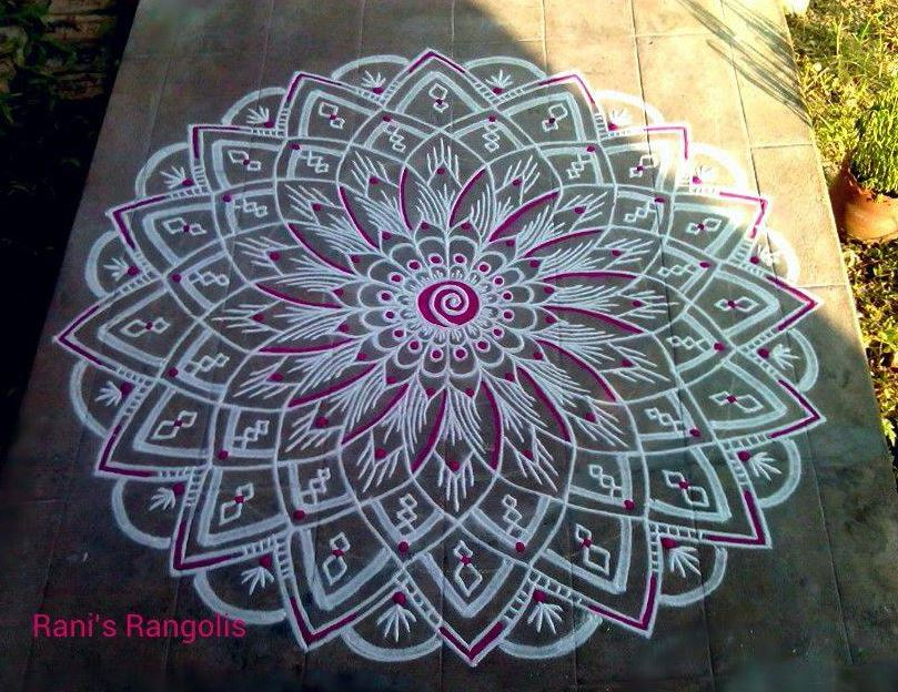 Kolam for Varalakshmi Pooja