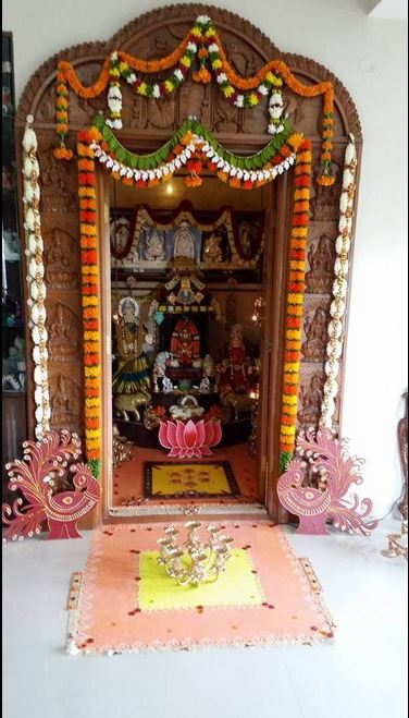 Pooja Room Decoration Ideas For Varalakshmi Festival & 84+ Ugadi Decorations At Home - Mehndi Function Decoration Ideas ...