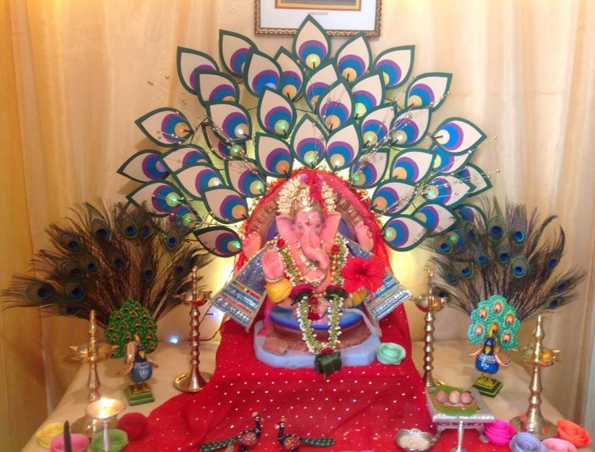 Ganpati Decoration Ideas For Home : Ganpati decoration ideas at home pooja room