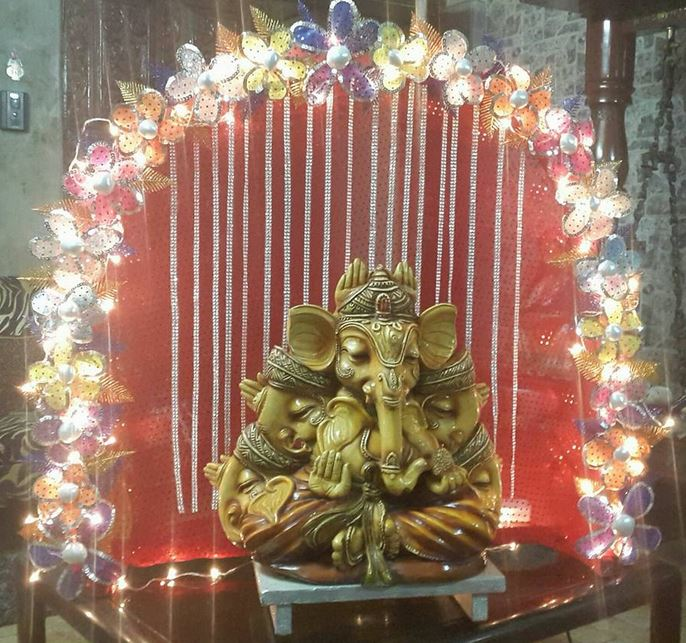 superb ganpati decoration at home design ideas