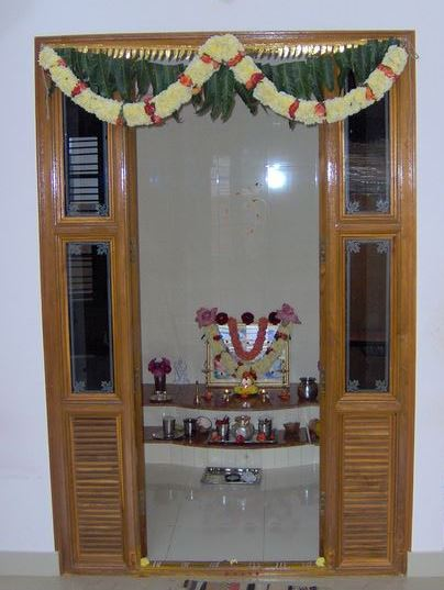 Double Door Designs For Pooja Room