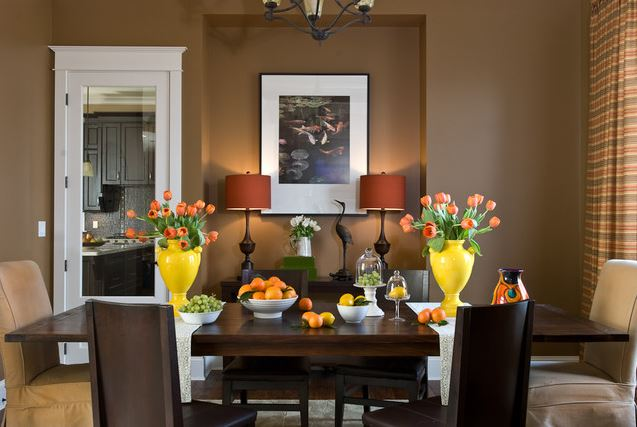 22 Bright Colourful Dining Room