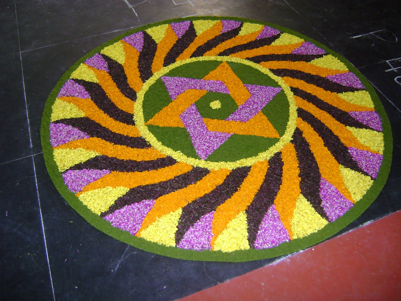 Flower Rangoli Designs 2015