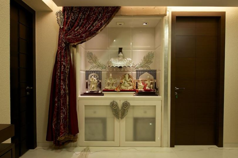 Pooja Room Design Ideas Part - 17: Pooja Room Designs In Hall Pooja Room Rangoli Designs