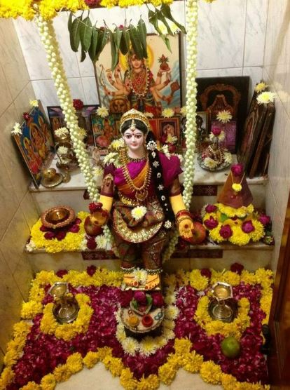 Ganpati Decoration Ideas For Home : Pooja room decoration ideas for varalakshmi