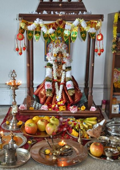Pooja Room Decoration Ideas for Varalakshmi Vratham