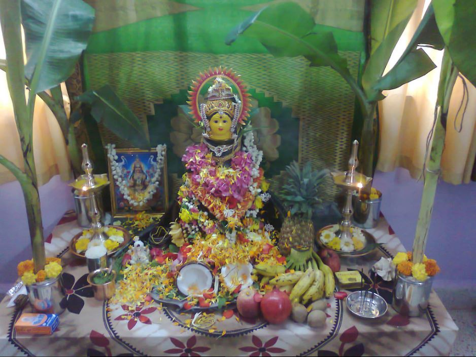 Varalakshmi Pooja Idol Decoration Ideas