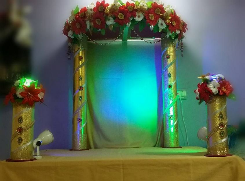 Ganpati Decoration Ideas Decoration For Ganpati Ganesh Pooja Decoration Ideas Vinayak