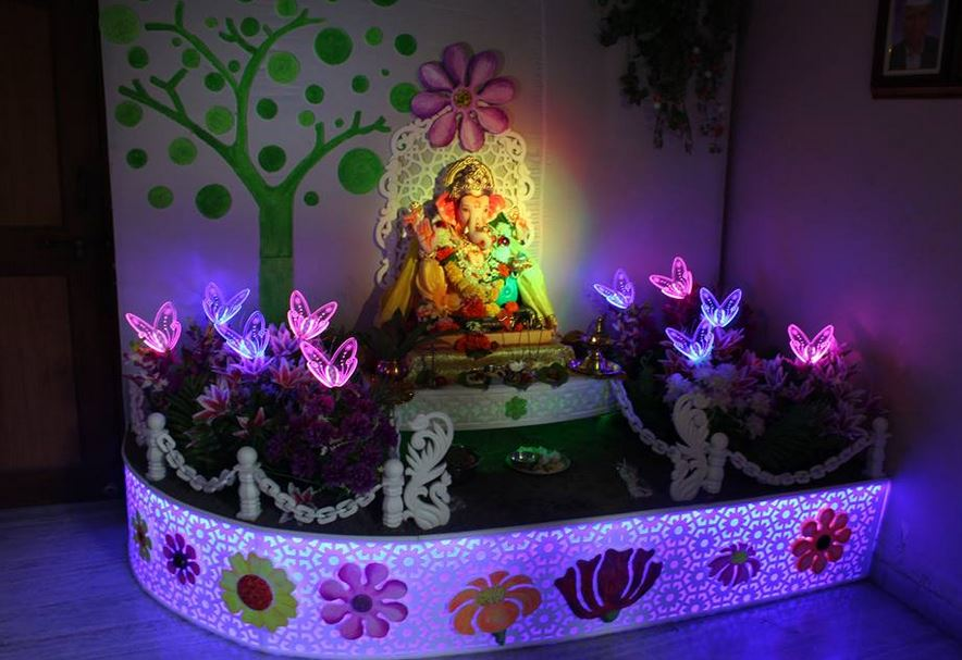 Ganpati Decoration Ideas at Home - Pooja Room Decoration