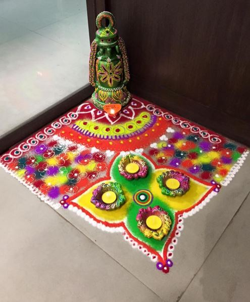 Corner Rangoli Designs Pooja Room And Rangoli Designs