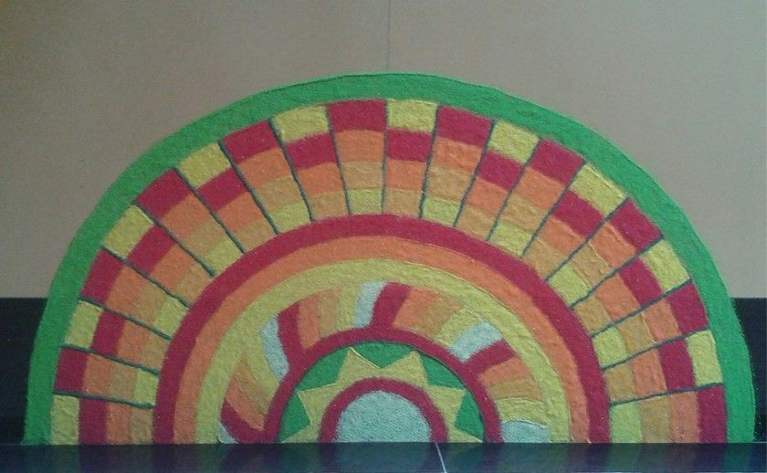 Corner Rangoli Designs for New Year