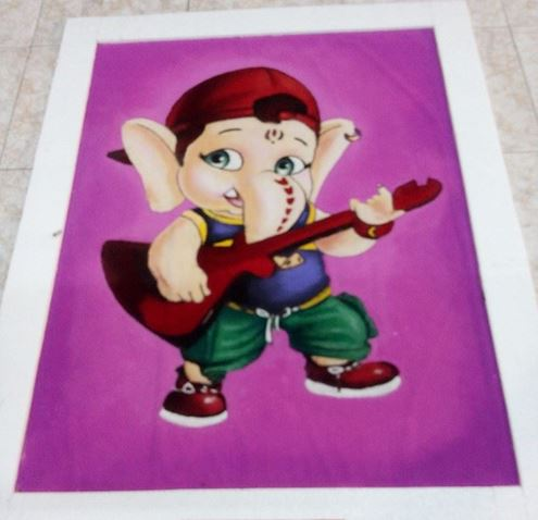 Ganpati Rangoli Design for Kids