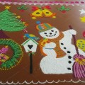 Rangoli for Christmas Season
