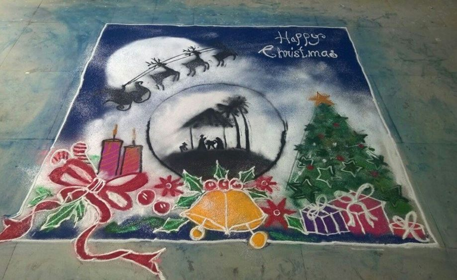Christmas Rangoli Designs