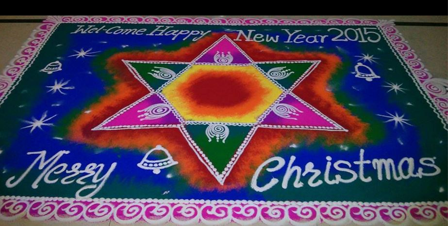 25 Beautiful Christmas Rangoli Patterns