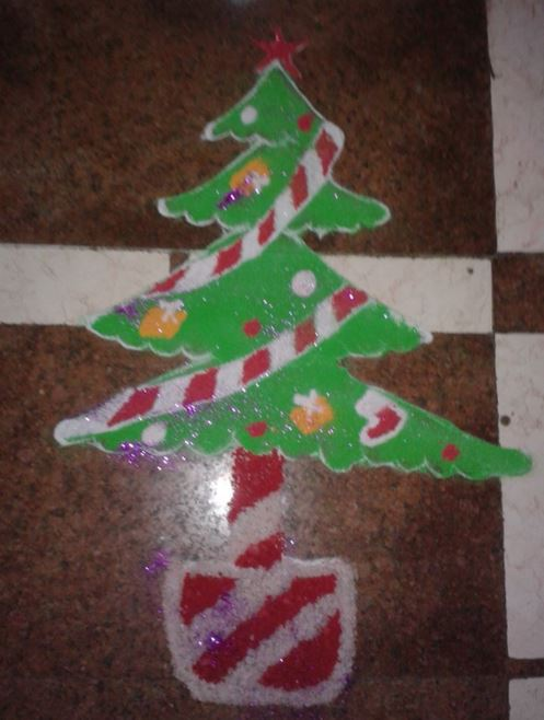 Simple Christmas Rangoli Design