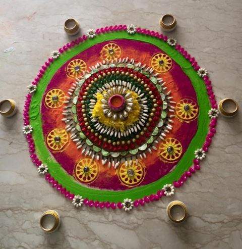 Unique Rangoli Designs for Holi