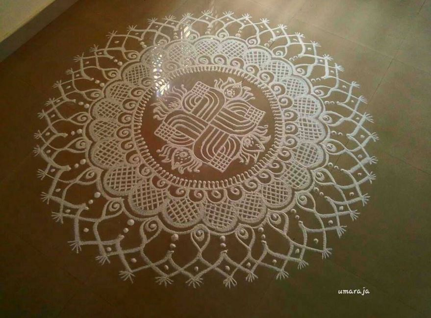 Here is another great kolam design that can be made during Sankranti ...