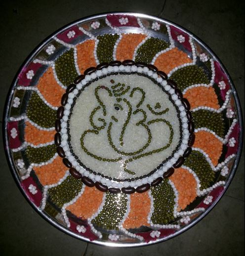 Aarti Thali Decoration for Ganpati