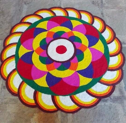 3D Rangoli Designs for Holi