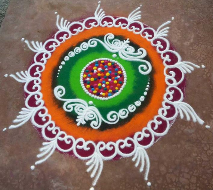 Latest and the Best Sanskar Bharti Rangoli Designs