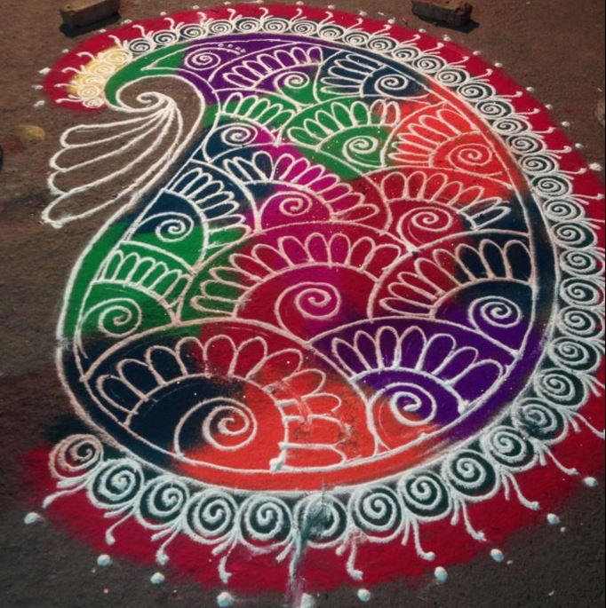 Sanskar Bharti Rangoli - Rangoli | Rangoli Designs Patterns