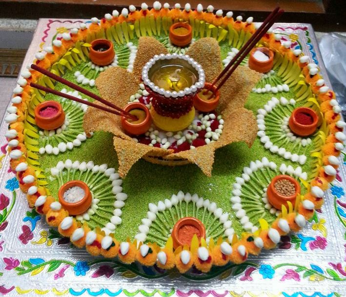 Aarti thali decoration ideas for ganpati aati thali for Aarti thali decoration ideas