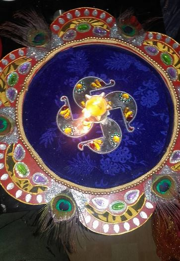 Aarti Thali Decoration Ideas for Janmashtami